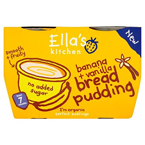 Ellas Kitchen Banana & Vanilla Bread Pudding 4x 80g