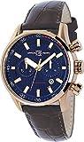 Montre  Officina del Tempo  - Affichage Analogique bracelet   et Cadran  OT1033-13000BGM_Blu
