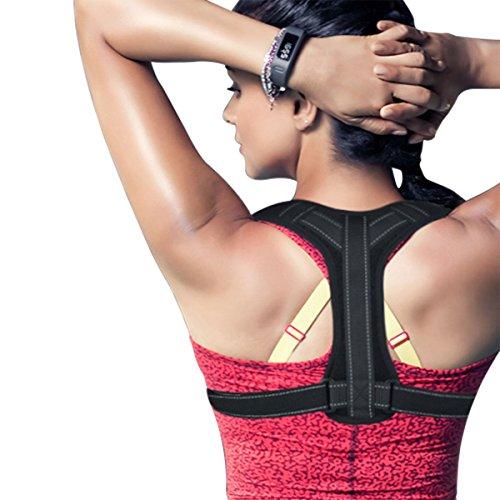 Guzack Corretor de Postura Espalda Supporto Brace Ajustable Hombro Corrección, Alivie el Dolor de Cuello y Hombro para Hombres Mujeres Niños y Adolescente
