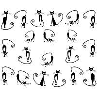 Gattino sveglio Design Nail Art suggerimenti di trasferimento dell