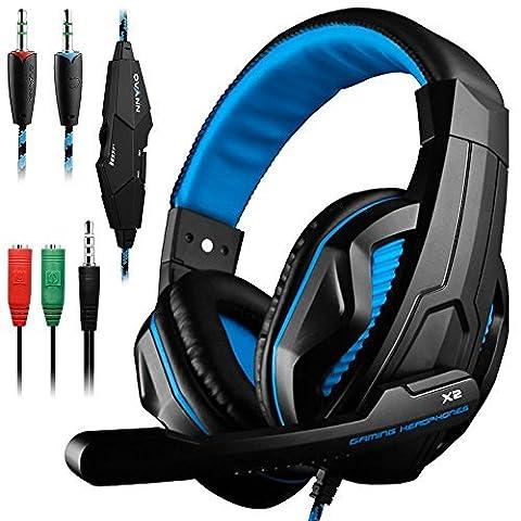 Gaming Headset, Dland 3.5mm verdrahteten PC-Stereospiel-Stirnband-Kopfhörer mit