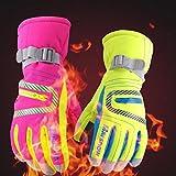 CALISTOUDE Kinder Winter Warm Ski Handschuhe Kalt Wetter Winddicht Wasserdicht Skifahren Schnee Handschuhe Motorrad Snowboard Alle Fingers
