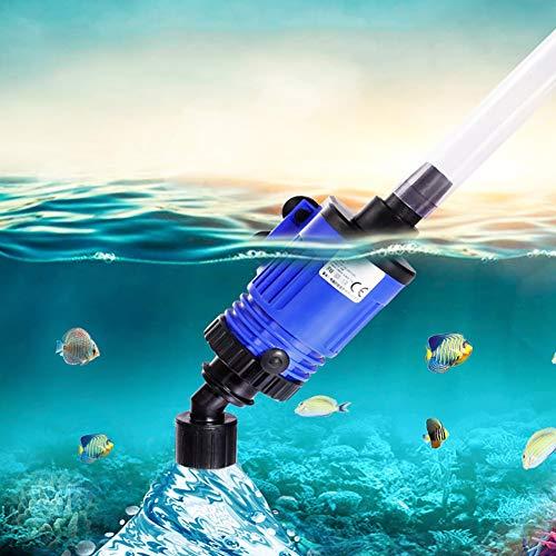 TUDIO Aquarium Reiniger-Elektrischer Fischbehälter Staubsauger Siphon und Reiniger für Aquarium und Fischtank Gravel Cleaner,16w2m