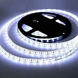 iNextStation Tira de luces LED, 5050 SMD flexible e impermeable 300 LED, tira de luces para cocina, dormitorio, barras de iluminación LED para el hogar, restaurantes, coches, garaje