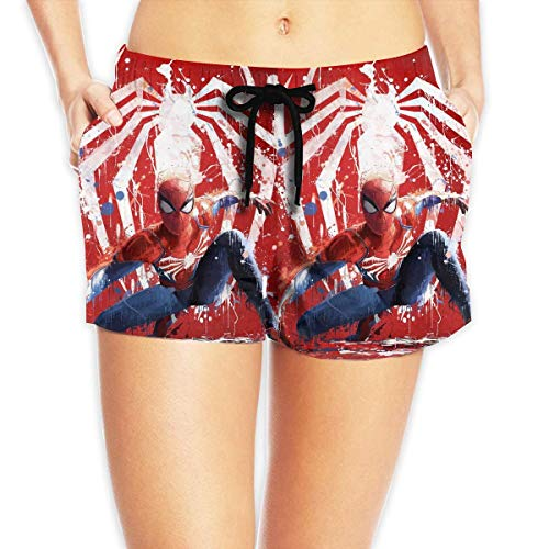 vbndfghjd Women Sexy Hot Pants Summer Casual Shorts Cool Spider Man Short Beach Trousers XL (Spiderman Kostüm Zeichnung)