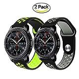 TRUMiRR Galaxy Watch 46mm/Gear S3 Classic/Frontier Armband, 22mm Silikon Gummi Armband Quick Release Uhrenarmband Sport Ersatzband