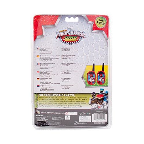 Image of Kids Walkie Talkie Toy for Children Great Fun for Indoor and Outdoor Play - Boys (Power Rangers 2)