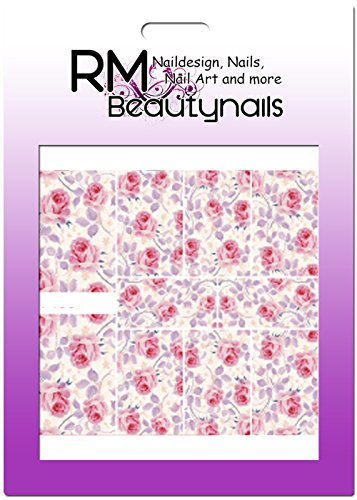 RM Beautynails Stickers nailwrap full cover, pour ongles, One Stroke Stickers, design fleurs