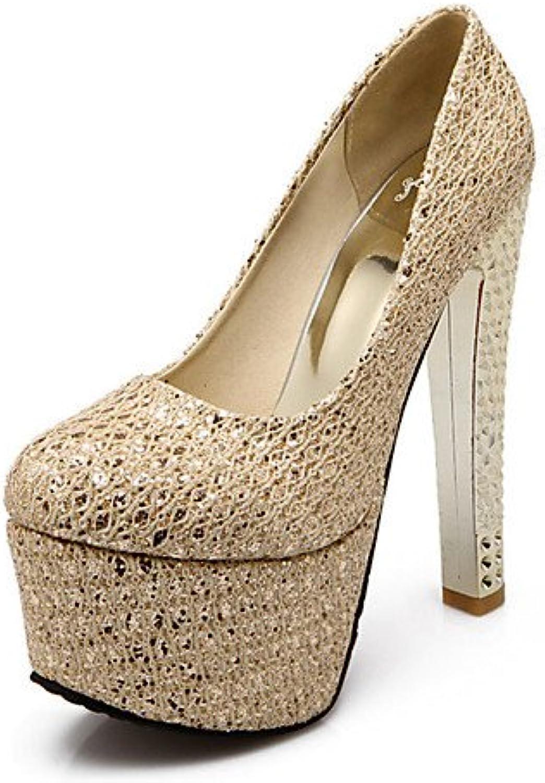 GGX/Damen-Schuhe Glitzer/Individuelle Materialien Spring/Winter Heels/Plattform/Basic Pumpe/rund Zehen heelsparty