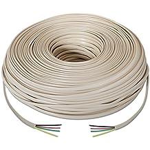 NANOCABLE 10.32.1002-OEM - Cable de telefono RJ11, 4C, Beige, Bobina de 100mts