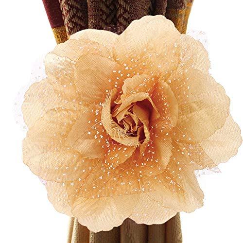 Gaddrt® 1 Stück Vorhang Clip Raffhalter Pfingstrose Blume Vorhang Raffhalter C