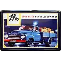 Blechschild Nostalgie Auto Retro LKW Truck Lastwagen Wand Deko Metall Schild