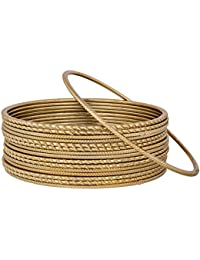 The Luxor Gold Plated Set Of Simple Daily Wear Fashionable Bangles For Women