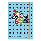Officially Licensed Volkswagen A5 Notebook – Beetle Blue Polkadot