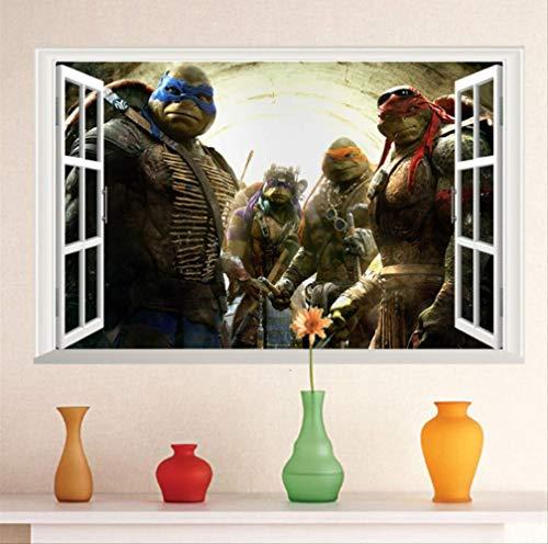 hzcl Cartoon Teenage Mutant Ninja Turtles Wandaufkleber Für Kids Room Baby Wall-Dekorationen Home Decoration Art Boys Wall Paper Posters - Hintergrund Turtle Ninja