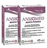 Bioserum - Pack Ahorro 2 x Ansiomed Mente positiva 2 x 45 Cápsulas (Total 90 Cápsulas)- Manten tu ansiedad y estado de ánimo bajo control