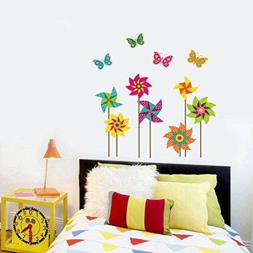 rbe Mühle Wand Aufkleber Pvc-Material Diy Cartoon Wall Decals Für Kinderzimmer Schlafzimmer Kindergarten Einrichtung Wandmalereien (Kreative Halloween-thema-namen)