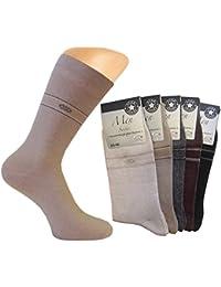 10 Paar Anzug Socken, ohne Gummi, dunkle, gedeckte Farben, dezentes Motiv, Grösse 39/42 oder 43/46