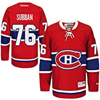Reebok NHL Eishockey Trikot Jersey Premier Montreal Canadiens P.K. Subban #76 rot