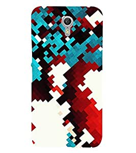 ABSTRACT CHECK PATTERN 3D Hard Polycarbonate Designer Back Case Cover for Lenovo ZUK Z1
