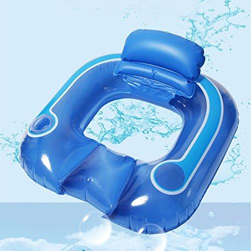DMGF Aufblasbare Pool Float Schnellventile Mit Kissen Schwimmen Sitz Sommer Outdoor Beach Party Liegen Kissen Kreative Urlaub Floats Spielzeug Erwachsene Kinder,Blue