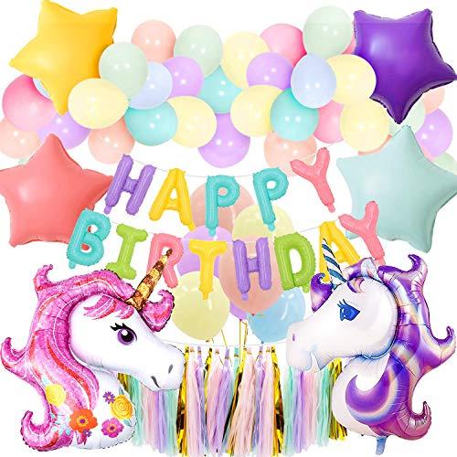 ekorationen liefert Party Ballons für Baby Boy Lady Geburtstagsparty, Hochzeit (Macarons Unicorn) ()