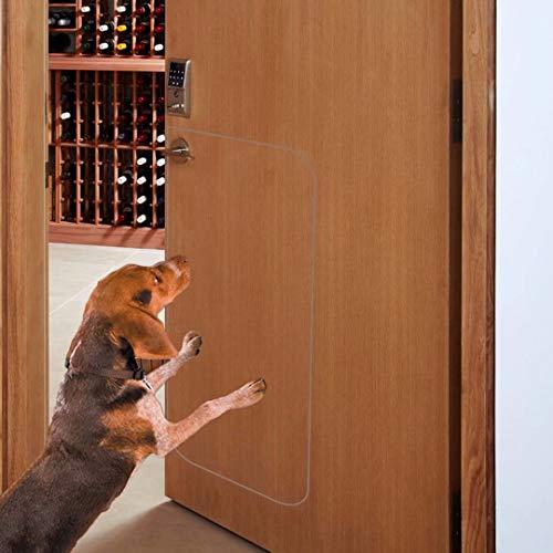 Deluxe-Kratzschutz für Haustiertüren, strapazierfähig, flexibel, für Innen- und Außenbereich, große transparente Türkratzschutz (91,4 x 43,2 cm) (Tür-schutz Für Hunde)