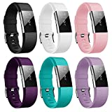 Fitbit Charge 2 Bracelet, Hanlesi Sangle Réglables TPU Sport Accessorie Replacement Band Respirant Confortable Durable Dragonne non originale pour Fitbit Charge 2