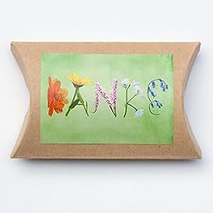 """Blumensamen """"Danke"""" im Geschenkkarton, Wildblumenwiese Mischung"""