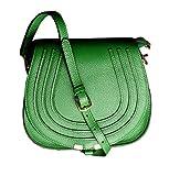 SAIERLONG Damen Grün Echtes Leder Schultertaschen Messenger Bag