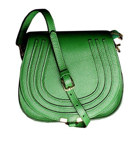 SAIERLONG Nuovo Donna Rosso Vera Pelle Borse Crossbody Sacchetti di spalla Verde