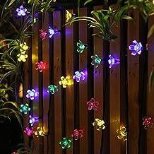 50 LED Solar String Lights Panpany 22 feet Flower Bulbs Solar Garden Lights Waterproof Decorative Lighting Fence Lights for Garden, Patio, Yard, Home