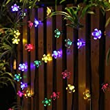 Cuerda Luminosa de 22 Pies (50 Luces Led) Panpany con Alimentación Solar, Luces Decorativas de Fiesta Impermeables para Jardín, Patio, Hogar, Árbol de Navidad y Fiestas