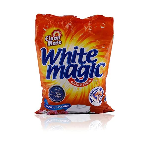 Clean Mate White Magic Detergent Powder - Rose & Jasmine, 2kg Bag