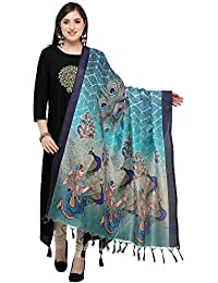 Applecreation Women's Khadi Silk Dupatta (Teal Green, Free Size)