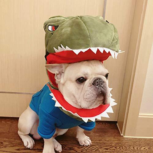 Fighrh Haustier Krokodil Tierform weiche Wolle Hund bequem weich weich bequem bequem Hund Tiara mittelgroß Hund super niedlich Haustier Cap Dinosaurier Krokodil Kopfschmuck Hut Halloween Hut