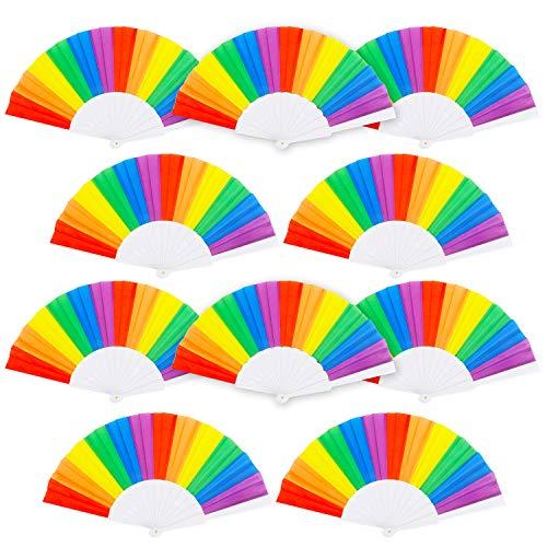 ans, 10 Stück, ideal für Regenbogen-Partys und LGBT oder Gay Pride Events ()