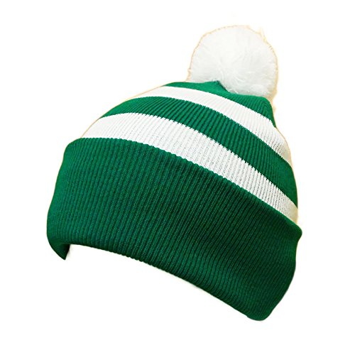 Bobble-Hat-Selection-Green-and-White