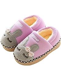 0060c6acabf KuaiLu Cute Bunny Slide Slippers Booties Shoes Fluffy Foam Anti Slip for Boys  Girls Little