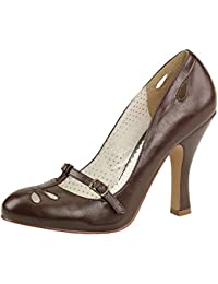 Mary Jane Pumps, Damen, Braun (braun)