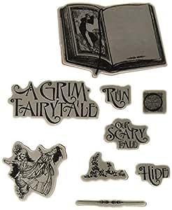 Graphic 45 grim fairytale 1 selbst stempel schwarz for Amazon stempel
