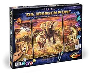 Schipper Arts & Crafts 609260520 - Juego de pintura por números, diseño de animales de África importado de Alemania