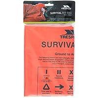 Trespass Men's Radiator Emergency Thermal Safety Survival First Aid Blanket Bivi Sleeping Bag, Orange, One Size