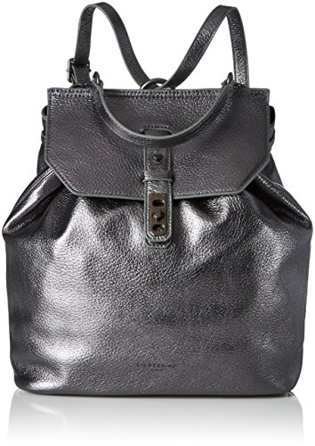 Liebeskind Berlin Damen Wisconsin Rucksackhandtasche, Silber (Rock Grey Metallic), 14x27x32 cm