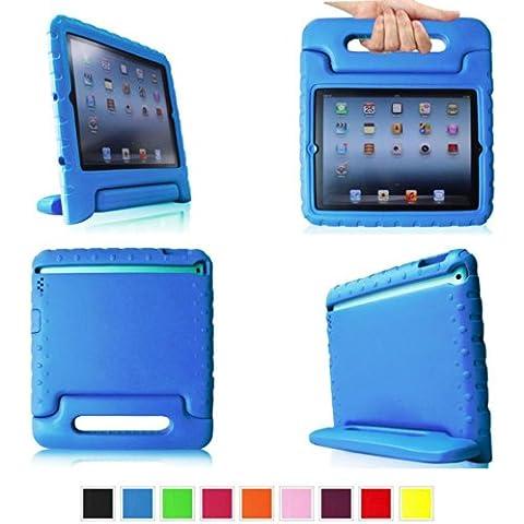 E-Max Funda de Goma Protectora Soporte Antichoque Forro Infantil Funda protectora para Apple iPad 2 / iPad 3 / iPad 4 (Apple iPad 2/3/4,
