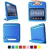 TIODIO® Funda de Goma Protectora Soporte Antichoque Forro Infantil Funda protectora para Apple iPad 2 / iPad 3 / iPad 4 (Apple iPad 2/3/4, azul)