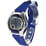 Casio CASIO Collection - Reloj digital unisex de cuarzo con correa de resina azul (cronómetro, alarma, luz) - sumergible a 50 metros