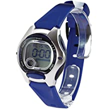 Casio CASIO Collection - Reloj digital unisex de cuarzo con correa de resina azul (cronómetro, alarma, luz) - sumergible a 50