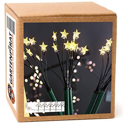 Sternenstäbe Set mit 5 LED-Leuchtstäbe für außen beleuchtet Garten Weihnachten