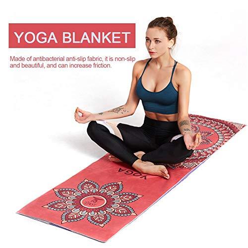 Eruditter Yogatuch rutschfest, Yogahandtuch Antirutsch, Yoga Handtuch Für Yogamatte Mandala, Mikrofaser Yogatuch Ideal…